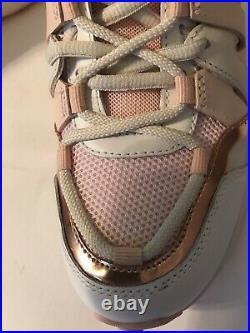Michael Kors Hero Colorblock Trainers Sz 8M Cream Multi Shoes Sneakers NIB