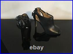 Michael Kors Jennings Peep Toe Shoe Boot Black Uk 6.5/8.5M Very Good Condition