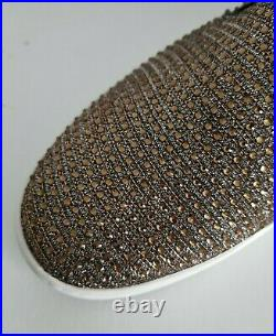 Michael Kors KEATON MK Logo Bronze Crystal Embellished Sneakers 11 I LOVE SHOES