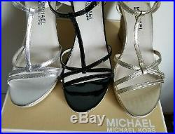 Michael Kors Kami T Strap Mk Logo 3 Colors Espadrille Wedges I Love Shoes