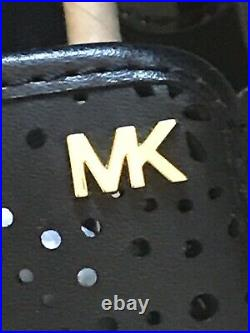 Michael Kors Kane Perforated Slip-On Sneakers Black Womens Flats Shoes size 6.5