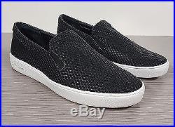 Michael Kors Keaton Mesh Sneaker Black Leather Size 8 M /38.5