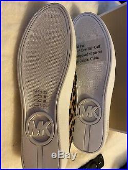 Michael Kors Keaton Slip on Sneaker Shoes Cheetah Michael Haircalf NIB 11m