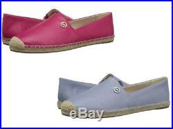 Michael Kors Kendrick Women's Slip-On Espadrille Leather Loafer Flats Shoes New