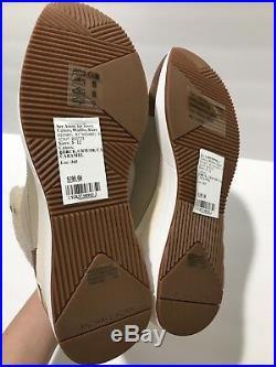 Michael Kors LIV Scout Wedge Bootie Sneakers Cream Dark Caramel 7.5 M/ 37.5 $199