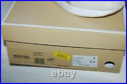 Michael Kors LIV Trainer Glitter Gold Rhinestone Sneaker Wedge Platform Shoe 7.5