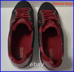 Michael Kors Lace Up Mini MK Logo Pvc Casual Shoes For Women Size 7.5