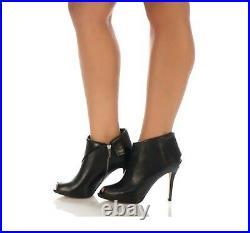 Michael Kors Ladies 7M Kendra open toe heel shoe boot, dark chocolate brown NIB