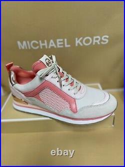 Michael Kors Light Orange Athletic Tennis Shoes Orange Ladies Size 8