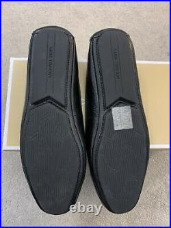 Michael Kors Lillie Mocassin Flat Shoes Black With Black Logo. Brand New in Bx