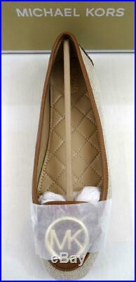 Michael Kors Lillie Moccasin Flat Shoes Ballet Flat Fabric Hemp Beige Size 7