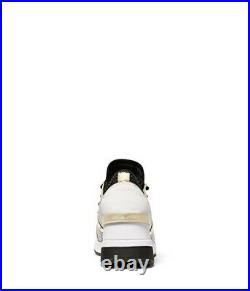 Michael Kors Liv Trainer Sneaker Shoes Black/Pale Gold