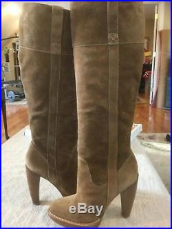 Michael Kors Lucille Brown Suede Woman Boots Size 7