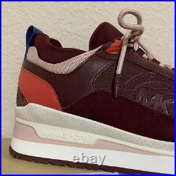 Michael Kors Lula Trainers Shoes Sneakers Merlot, Us 7.5