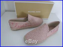 Michael Kors MK ESPANDRILLES BALLET Gr. 38,5 US 8 LOVE Schuhe neu