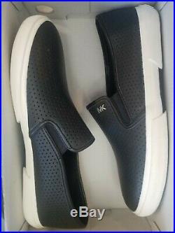 Michael Kors MK LOGO Boerum Double Gore white Navy Black Grey new women shoes