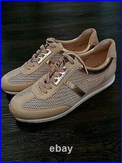 Michael Kors MK Logo City Sneakers Pale PINK lightweight Shoe womens 8 38 NEW