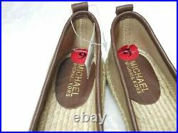 Michael Kors MK Logo canvas shoes Size Womens US 6 Brown Gold Casual New No box