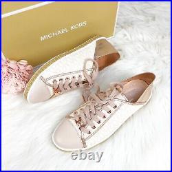 Michael Kors MK Rose Gold Premium Kristy Slide Fashion Sneakers Shoes Soft Pink