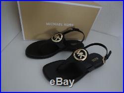 Michael Kors MK Sandalen Gr. 40 AUBREY CHARM THONG Sandalette Schwarz Schuhe neu