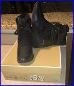 Michael Kors MK Shay Boot Black Admiral Winter Sneaker Boots sz 9