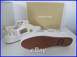 Michael Kors MK Speaker POPPY LACE UP Gr. 36 US 6 weiß Sneakers Schuhe neu