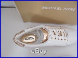 Michael Kors MK Speaker POPPY LACE UP Gr. 42 US 11 weiß Sneakers Schuhe neu