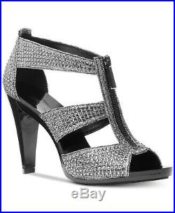 Michael Kors MK Women's Berkley T-Strap Glitter Chain Mesh Dress Sandals Shoes