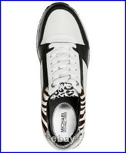 Michael Kors MK Women's Billie Trainer Mesh Sneakers Shoes Black Optic White