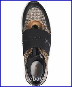 Michael Kors MK Women's Chain Mesh Trainers Shoes, Black/Bronze/Silver, Size 8.0