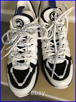 Michael Kors MK Women's Hero Trainer Leather Sneakers Shoes Size 6