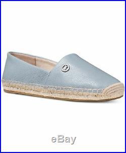 Michael Kors MK Women's Kendrick Leather Slip On Flats Shoes Pale Blue