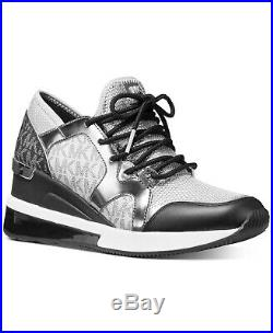 Michael Kors MK Women's Liv Trainer Extreme Mesh Sneakers Shoes Silver Multi