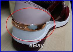 Michael Kors MK Women's Liv Trainer Sneakers Shoes Oxblood New /w Defect Sz 5.5