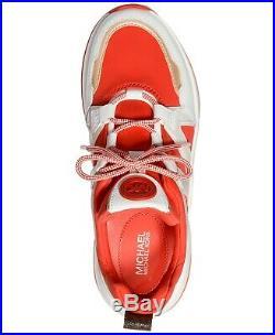 Michael Kors MK Women's Olympia Trainer Scuba Dad Sneaker Shoes Sea Coral