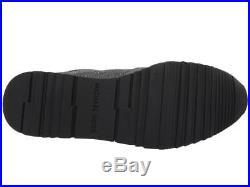 Michael Kors MK Women's Premium Allie Trainer Flannel Sneakers Shoes Charcoal