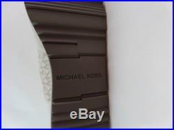 Michael Kors MK signature fashion sneaker leather Allie Wrap Vanilla trainer New