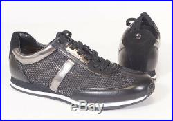 Michael Kors Maggie Black Perforated Mesh Trainer Fashion Sneakers Shoes Women