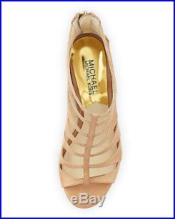 Michael Kors Mavis Open Toe Dk Khaki Zipper Strappy Sandal Women Shoes Multisize