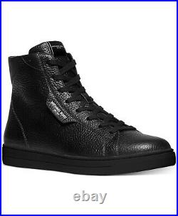Michael Kors Men's Keating High-Top Fashion Sneakers Shoes Size 7.5 US Black