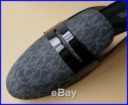 Michael Kors Mira Black Mini Mk Logo Pvc Slides Mules Us 7.5 I Love Shoes