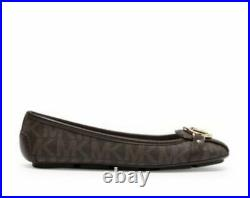 Michael Kors Moccasin Leather Women's Flats Brown Shoes SZ 8, 9,10 NEW