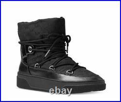 Michael Kors NALA Black MK Waterproof Jaquard Ankle Boots Bootie Shoes 8 NIB