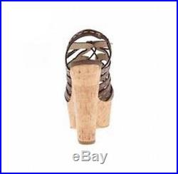Michael Kors NEW Brown Shoes Size 7M Platforms & Wedges Heels $598 #402 SALE