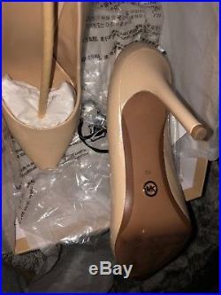 Michael Kors Nude Leather Heels size 39 UK 6