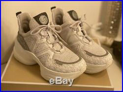 Michael Kors Olympia Trainer Mesh Sneaker Grösse EU 38 UK 7,5 WIE NEU