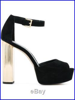 Michael Kors Paloma Platform Suede Black Size 6.5M Retail $150