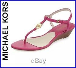 Michael Kors Pink Hamilton Cork Thong Sandals Women's Size 9! $188 +