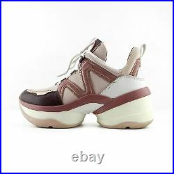 Michael Kors Pink & Plum Bulky Lace Up Sneakers Shoes sz 7 37