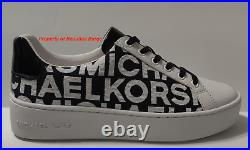 Michael Kors Poppy Lace Up Jacquard Casual Sneaker Shoes For Women Size 7.5